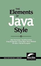 The Elements of Java(TM) Style (SIGS Reference Library), Allan Vermeulen, Scott