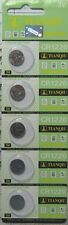 5 X CR1220, DL1220 BR1220, 3 VOLT LITHIUM 2017 TIANQIU/TIANTAN BATTERY USA SHIP