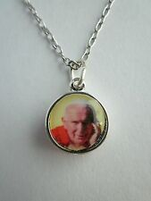 "Pope John Paul II Relic Medal Pendant Necklace 20"" Chain"