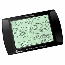 USB Wireless Weather Station Forecaster with LCD Touchscreen - Black N96GY