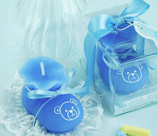 10pcs Blue Sock Shoe Candle Wedding Baby Shower Birthday Souvenirs Gifts Favor