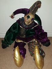 TC & C Limited Porcelain Ceramic Face Jester Clown Mardi Gras