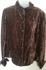 SILK VELVET REVERSIBLE EMBROIDERED Jacket Conker L Boned - REDUCED!