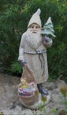 German Belsnickle SANTA CLAUS Statue*Bag of Toys*Christmas Tree*Primitive Decor