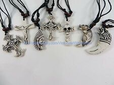 $0.5/p wholesale 100pcs hippie gothic rock punk pendant necklaces  jewelry lots