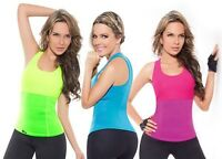 UK BEST FAT BURNER SWEAT NEOPRENE SAUNA SUIT FOR WOMEN WORKOUT EXERCISE TOP GP