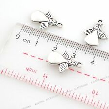 50pcs Antique Silver Tone Alloy Angel Dangle Charms Pendants Finding Jewelery LC