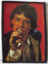 ROLLING STONES Jagger On Stage Original Vintage 1980`s Sew On Patch/Photopatch