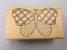 LOCKHART Rubber STAMP COMPANY stamps Plaid Butterfly