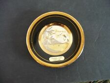 Mini Plate -24K Gold Edged, Black, Hawaii Hula Girl --The Art of Chokin--Japan