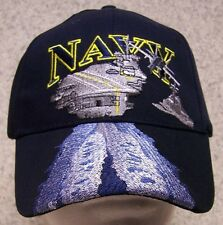 Embroidered Baseball Cap Military Navy Aircraft Carrier NEW 1 hat size fits all