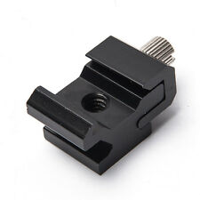 New Cold Shoe Hot Shoe To 1/4 Thread Screw Flash Bracket Mount Adapter Trigger