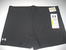 "Under Armour Womens UA Shorty 3"" Compression Shorts Size Medium Solid Black NWT"