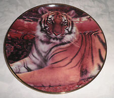 FRANKLIN MINT COLLECTORS PLATE  -  'THE IMPERIAL TIGER'