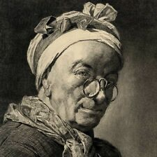 Portrait de Siméon Chardin Gravure Gery Bichard 19e siècle