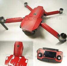 DJI Mavic RED Carbon Fiber Full Graphic Wrap kit - Decal Skin Sticker Pro