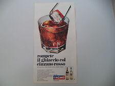 advertising Pubblicità 1967 CINZANO VERMOUTH