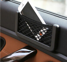 Luxury Car Storage Net Resilient String Bag Pouch Phone Holder Pocket Organizer