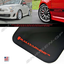 RALLY ARMOR UR MUD FLAPS 2012-2014 FIAT 500 HATCHBACK SPORT ABARTH BLACK / RED