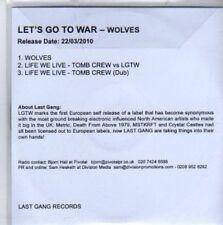 (BB11) Let's Go To War, Wolves - DJ CD