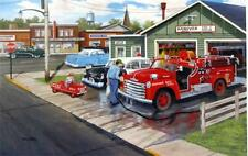 "Ken Zylla  A Little Boys Dream Fire Engine Art Print 12"" x 8"""