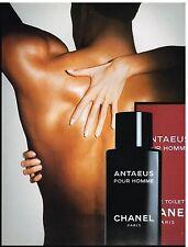 Publicité Advertising 1987 Eau de Toilette pour homme Antaeus Chanel