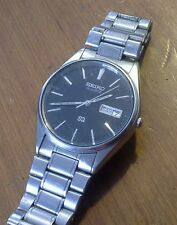 Vintage men's SEIKO 5H23-8A09 day date quartz wristwatch, runs good, 3J