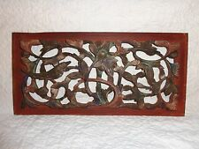 Antique Chinese Carved Relief Wood Architectural Salvage Panel Single Bird Motif