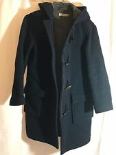 Women's J Crew Navy Peacoat Wool Coat Size XS/P NICE!�� TOGGLE CLOSURE