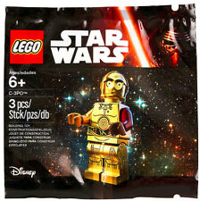 NEW LEGO C-3PO MINIFIG POLYBAG SET 5002948 Sealed promo star wars red arm figure