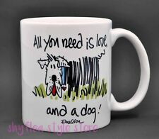 All You Need is Love and a Dog Mug Coffee Cup Cute Scruffy Puppy by Emerson