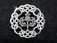 Ashling Aine Pewter Celtic Thistle Brooch (#JPEW6074)