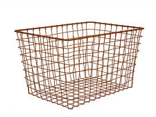 Basket Linea by Present Time Large Copper Wire Storage Basket