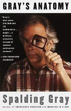 Gray's Anatomy by Spalding Gray (1993, Paperback)