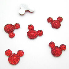 Hot 40pcs 14MM Resin Mouse Flat back Scrapbooking For DIY craft making Red X
