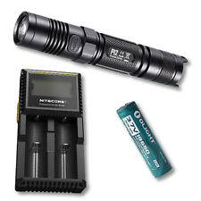 Nitecore P12 Flashlight 2015 Version 1000Lm-Includes D2 Charger & 2600mAh 18650