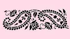 "PAISLEY STENCIL LEAF PAISLEYS BORDER CRAFT TEMPLATE STENCILS NEW 8"" X 18"""