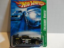 2007 Hot Wheels Treasure Hunt #124 Black Corvette C6R w/Gold 10 Spoke Wheels
