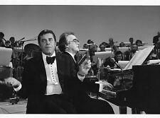 Photo originale Michel Legrand Jerry Lewis télé piano orchestre