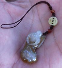 Authentic Hand Carved Natural Jade Stone OX Bull Cow Zodiac Charm