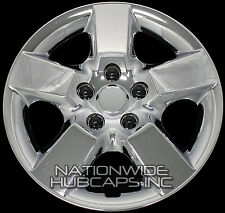 "4 CHROME 16"" Hub Caps Full Wheel Covers Rim Cap Lug Cover Hubs fits Steel Wheels"