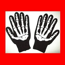>NEW KNIT SKELETON GLOVES:STORAGE WARS-BARRY WEISS STYLE PAINTBALL WINTER BIKER<