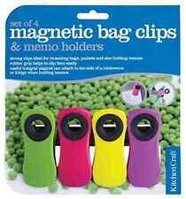 4 X FUNKY FRIDGE MAGNET MEMO NOTES HOLDERS BAG CLIPS MAGNETIC REMINDER NEW SET