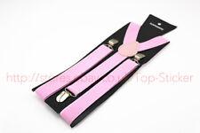 Adjustable Slim Unisex Men Ladies Trousers Braces Suspenders Clip