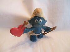 1980 Valentine's Day Angel Cupid SMURF - SCHLEICH / PEYO - Made in Hong Kong Toy