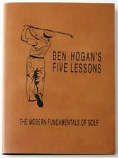 BEN HOGAN'S 5 LESSONS ~ LEATHERBOUND GIFT ED ~ BOXED ~ PERSONALIZED AS YOU WISH!