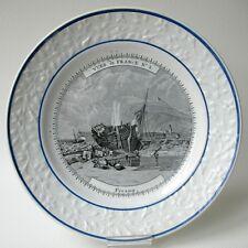 1820 ASSIETTE CHOISY VUES DE FRANCE FECAMP N°3 NORMANDIE Début XIXè