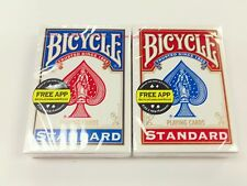 BICYCLE STANDARD FACES POKER PLAYING CARDS SET OF 2 DECKS NEW AND FACTORY SEALED