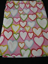 Colorful Hearts  Single Size Bed Duvet Cover Euc!
