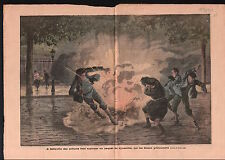 Enfants Explosion Pétard Paquet de Dynamite Belleville Paris 1910 ILLUSTRATION
